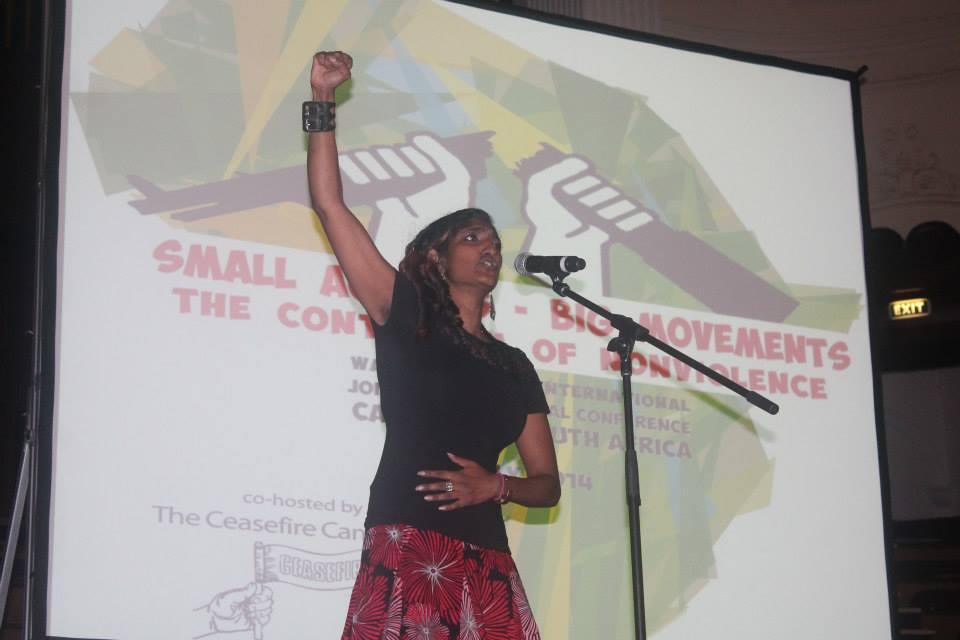 Мали акции, големи движења: Континуум на ненасилството, WRI во Кејп Таун, Јужна Африка